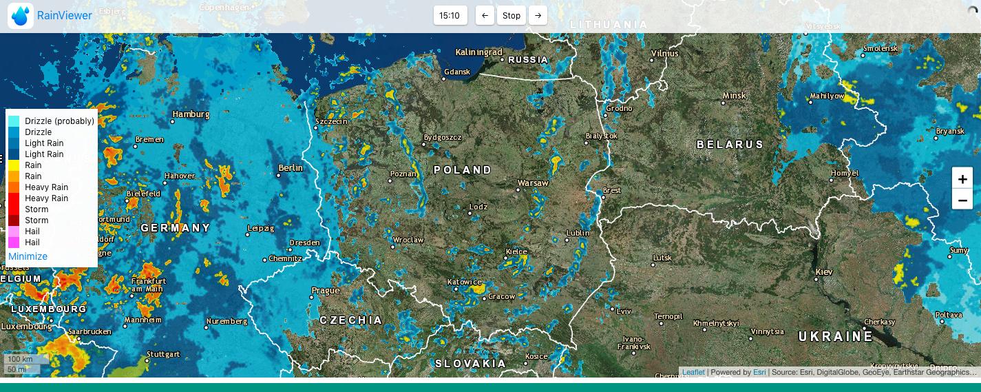 Mapa burzowa Polski