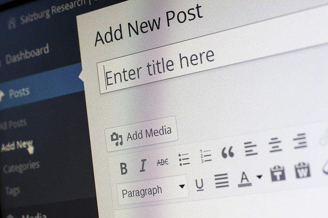 prowadzenie bloga - WordPress