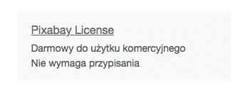 Licencja obrazków pixabay