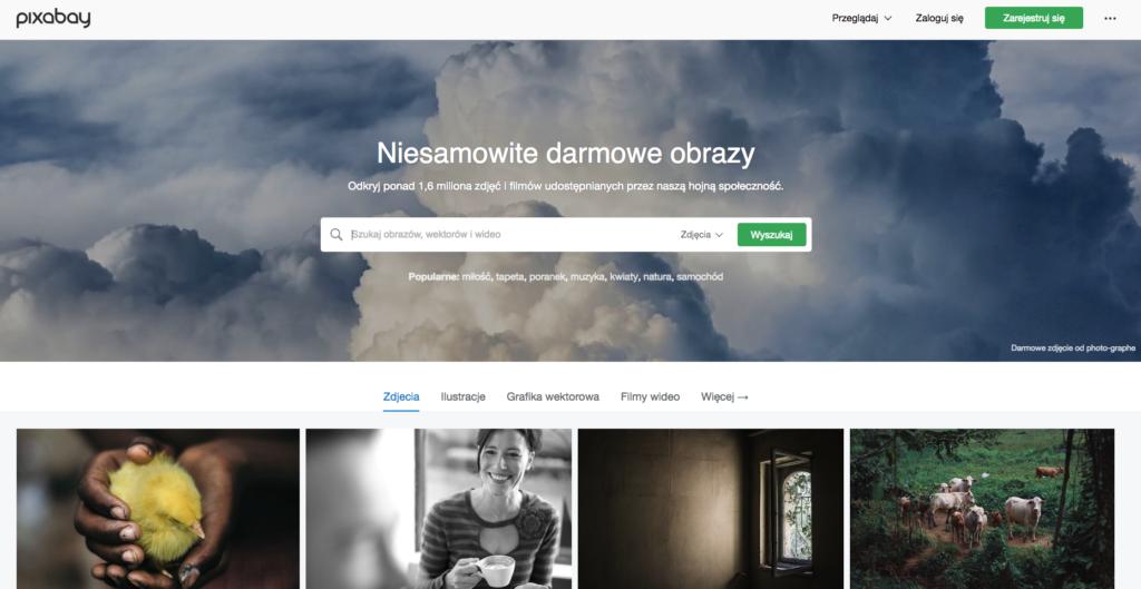 strona z obrazkami pixabay